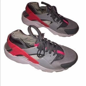 Nike Huarache Sneakers Gray Pink Size 7Y